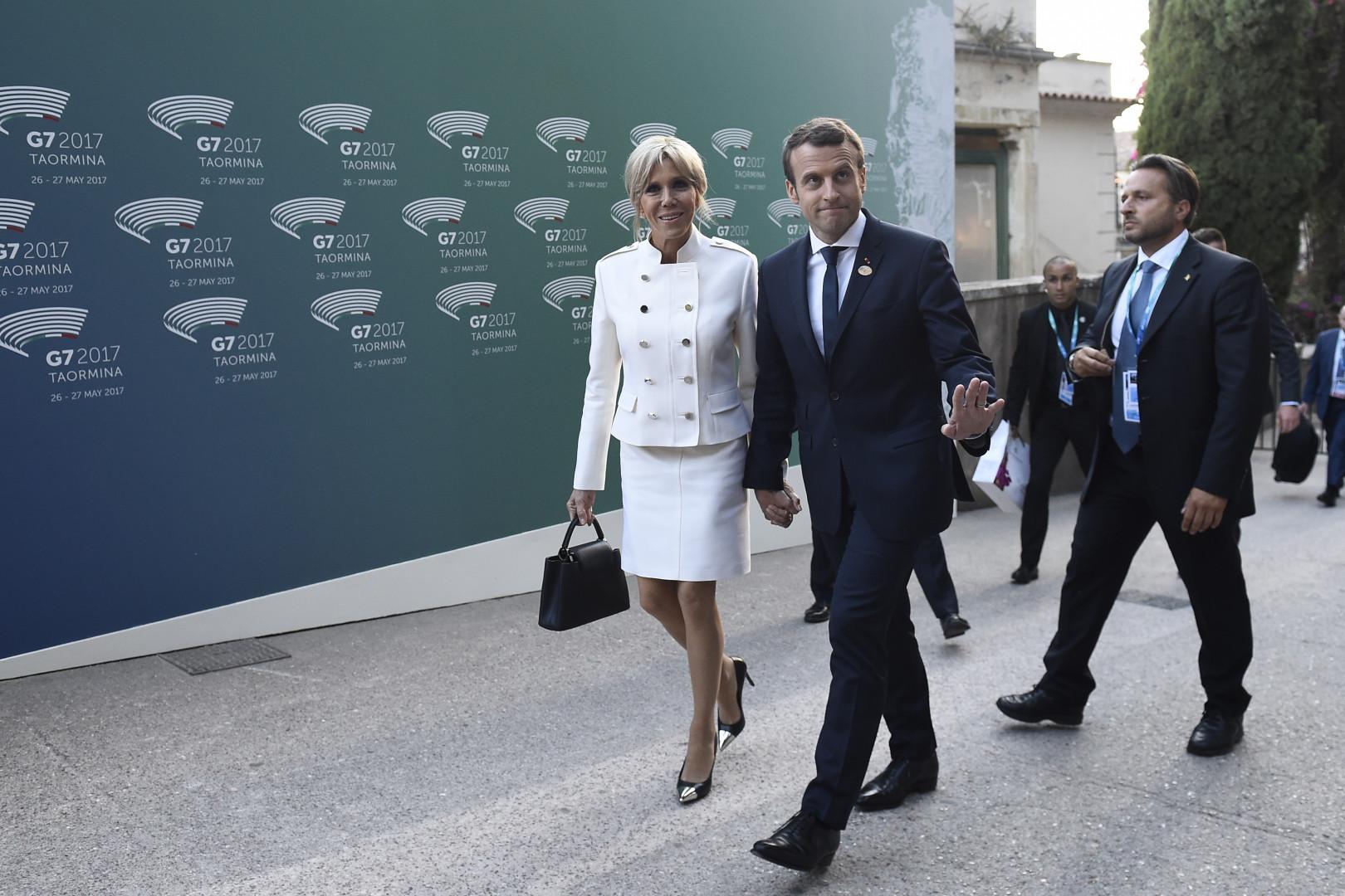 Le couple Macron, le 26 mai 2017 lors du sommet du G7 en Sicile
