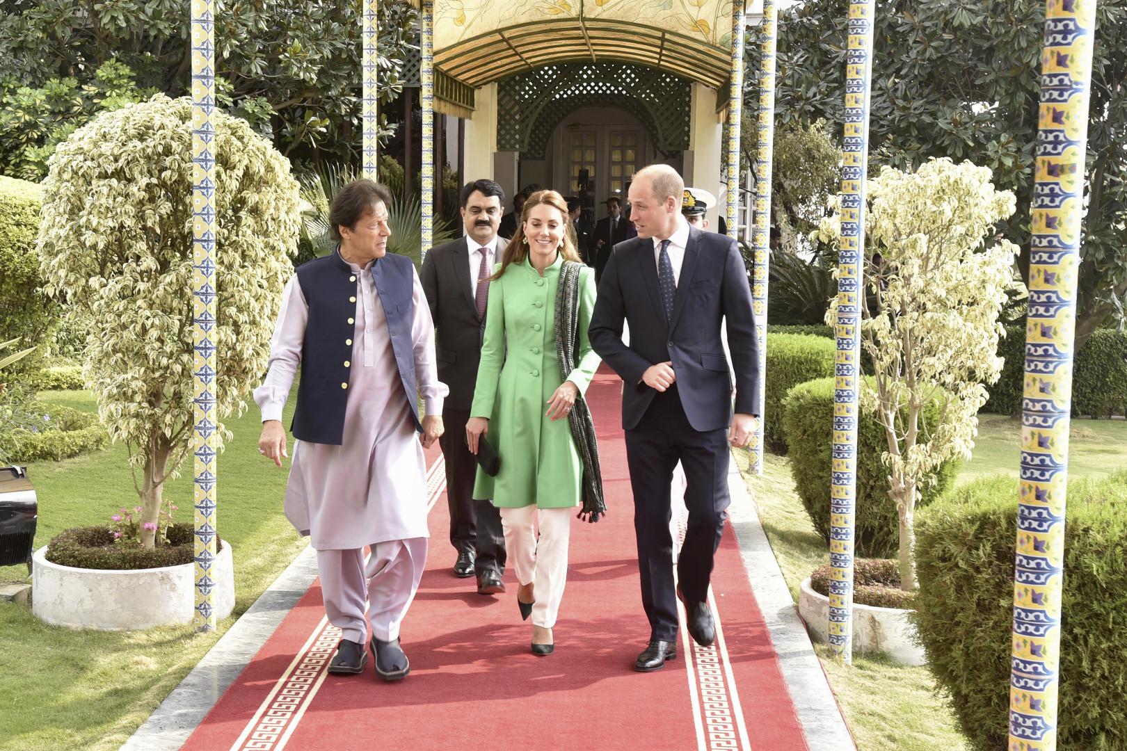 Les Cambridge avec le Premier ministre pakistanais Imran Khan