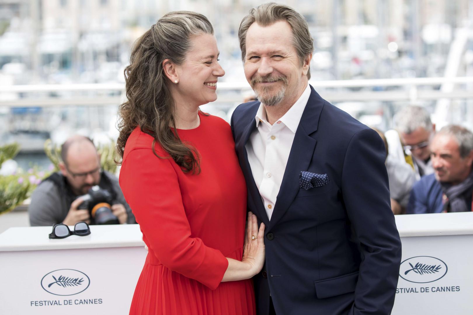 Gary Oldman et son épouse Gisele Schmidt au 71e Festival de Cannes