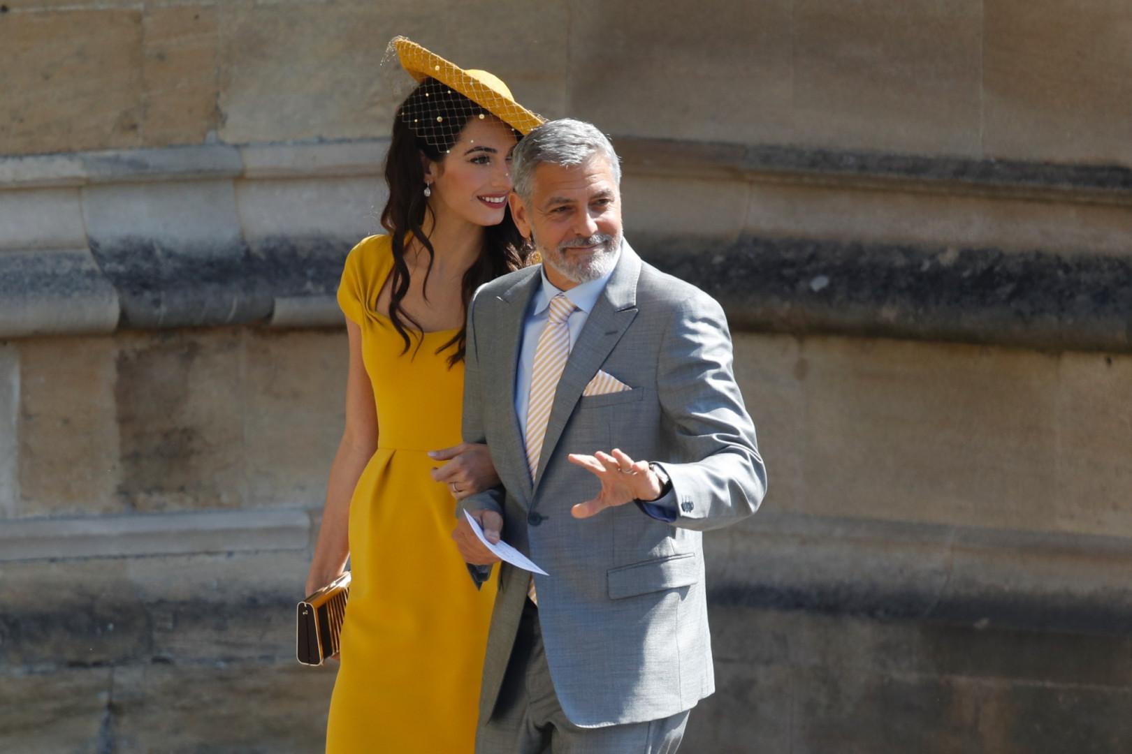 George et Amal Clooney lors du mariage de Meghan Markle et du prince Harry