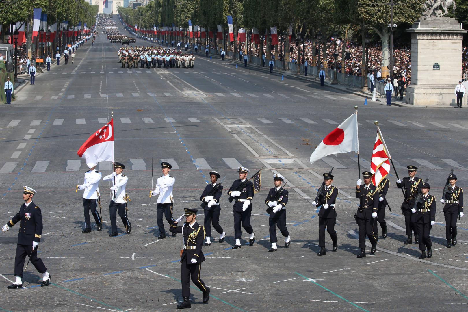 Les troupes de Singapour et du Japon mises à l'honneur ce 14 juillet 2018