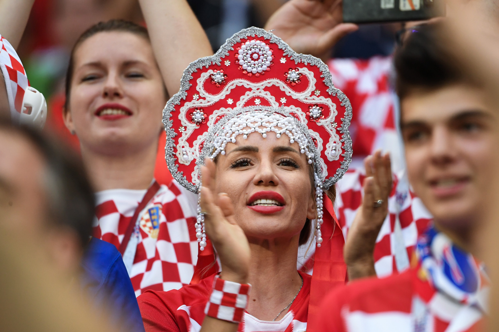 Une supportrice croate, le 11 juillet 2018 à Moscou