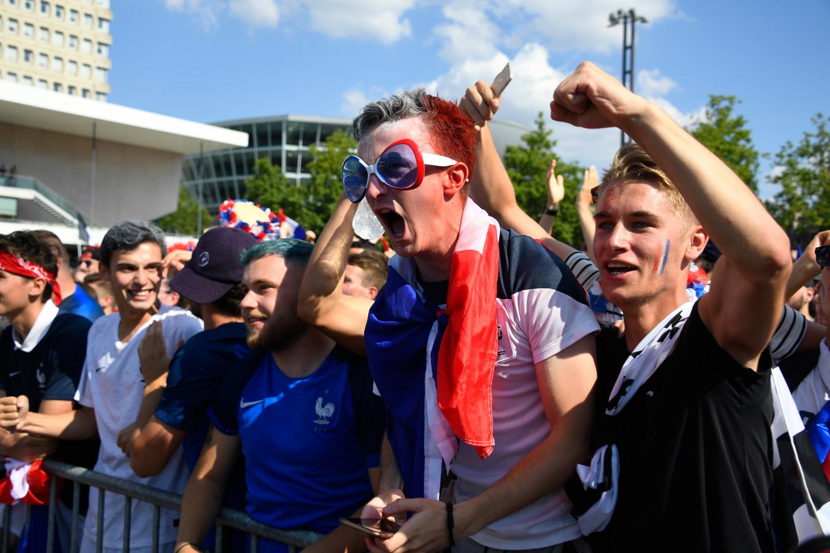 À la fan zone de Rennes le 15 juillet 2018