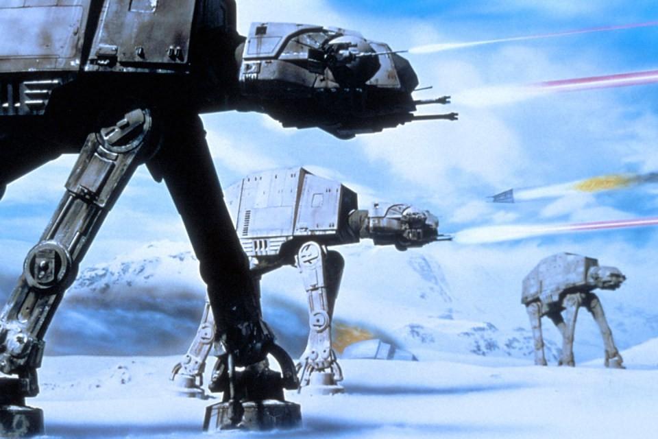 """""""Star Wars : L'Empire Contre-Attaque"""" (1980). Comment oublier la planète Hoth et ses immenses plaines gelées ?"""