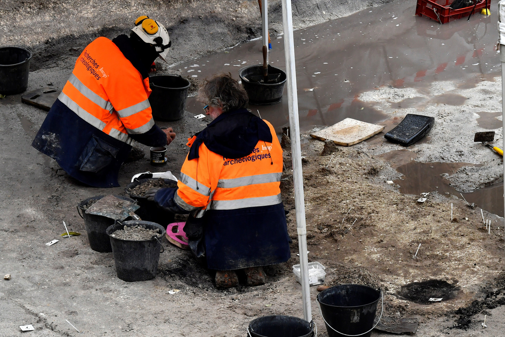 Les archéologues ont analysé, pendant 7 mois, plus de 2.000 m² de terrain