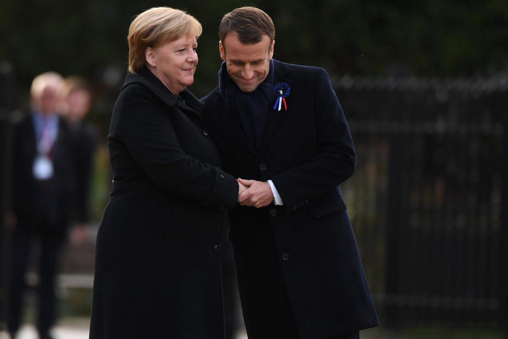 Angela Merkel et Emmanuel Macron le 10 novembre 2018