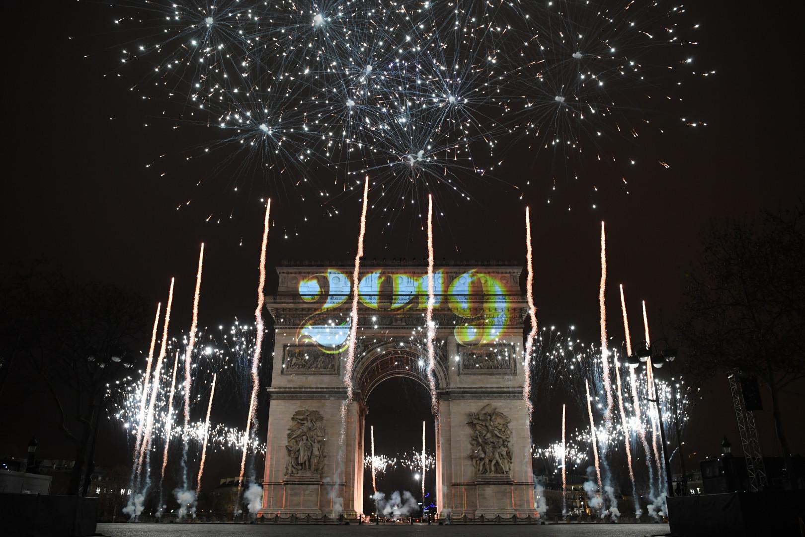 L'Arc de Triomphe lors du passage à 2019