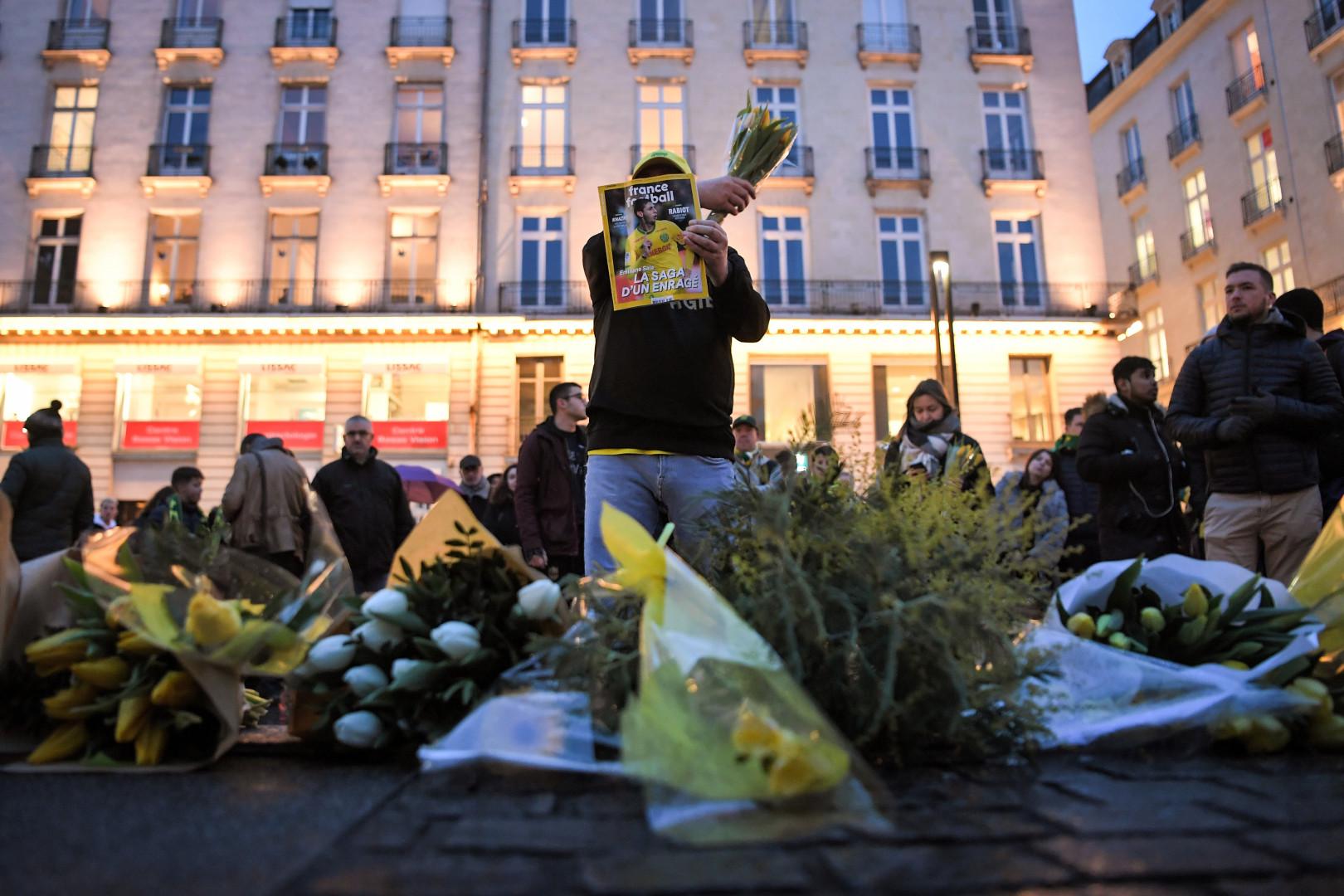 Des supporters du FC Nantes rassemblés pour un hommage à Emiliano Sala