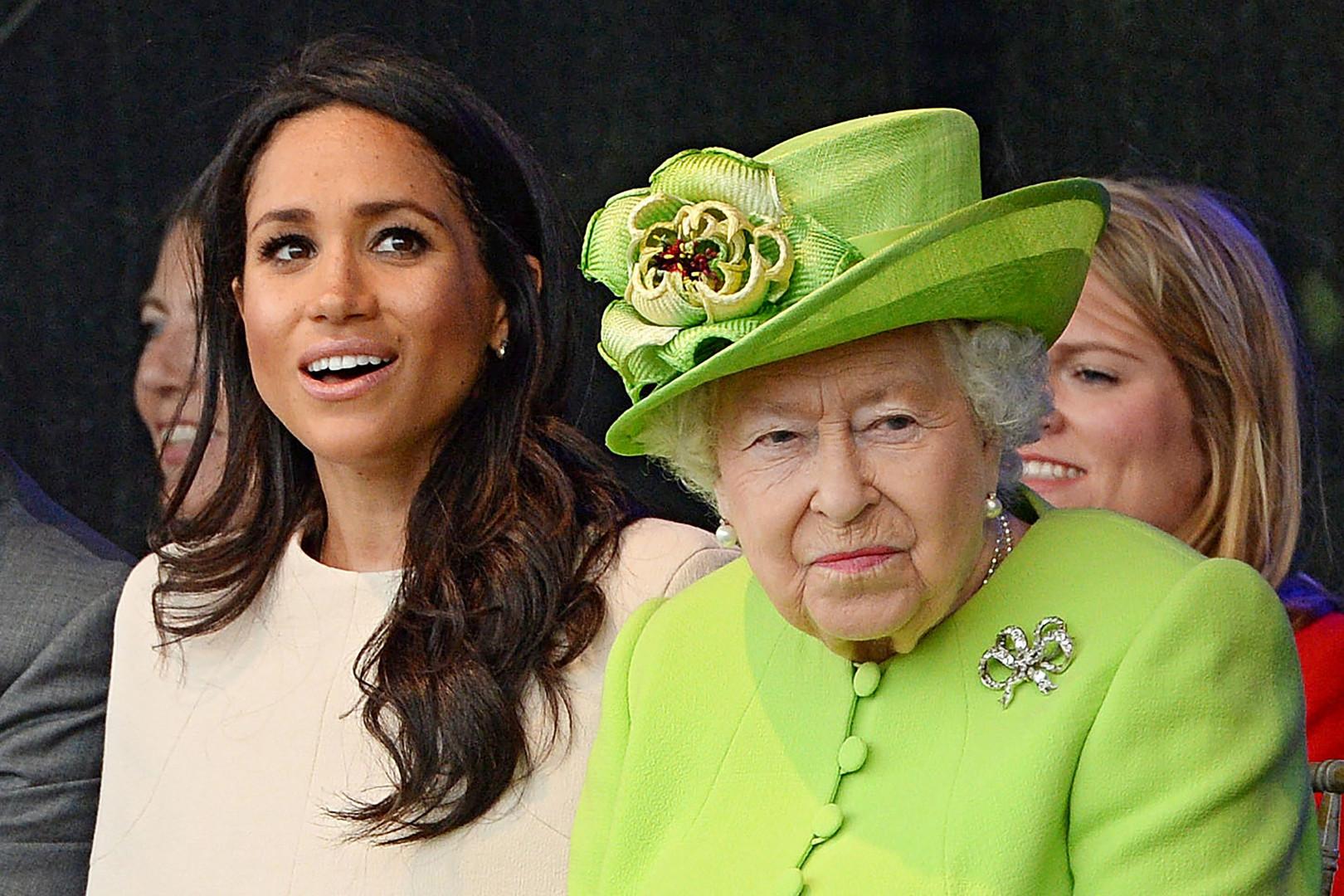 Meghan Markle et la reine Elizabeth II, le 14 juin 2018