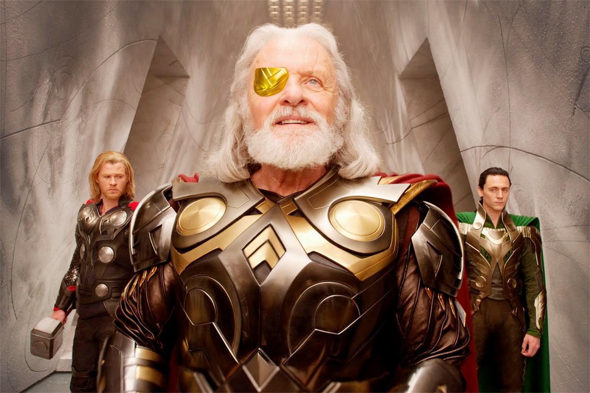 """Odin, père de Thor et Loki ici dans le premier volet de la saga """"Thor"""""""