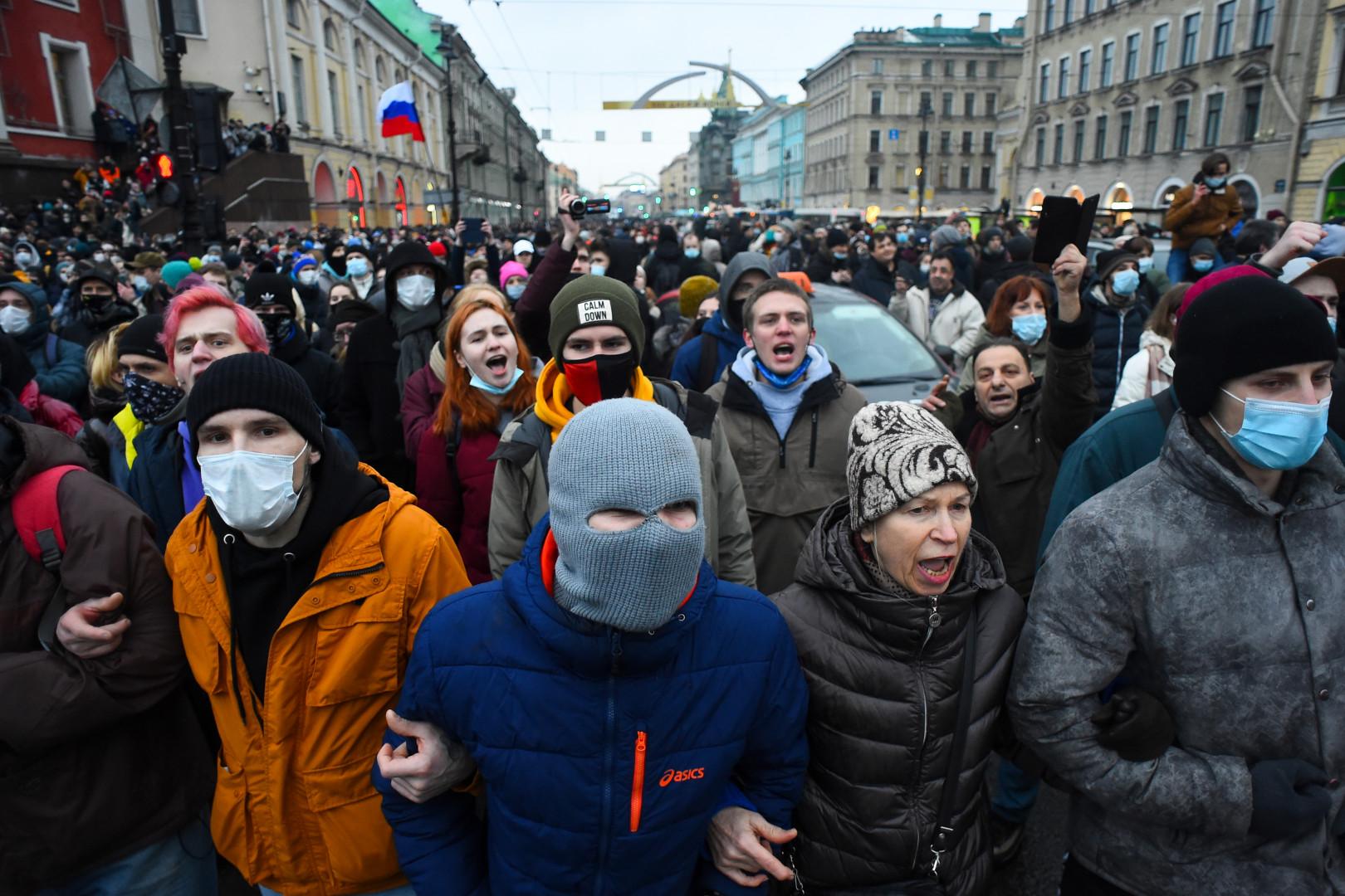 Des manifestations en Russie contre l'arrestation d'Alexeï Navalny