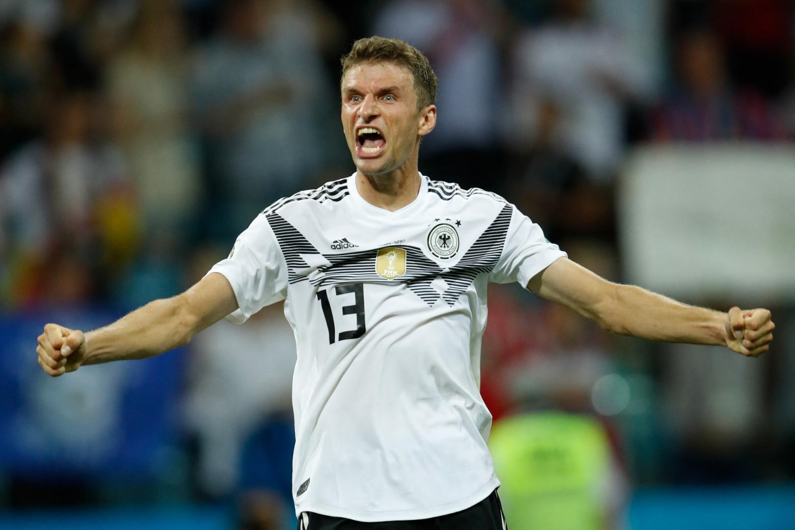 Thomas Müller avec l'Allemagne le 23 juin 2018 à Sotchi