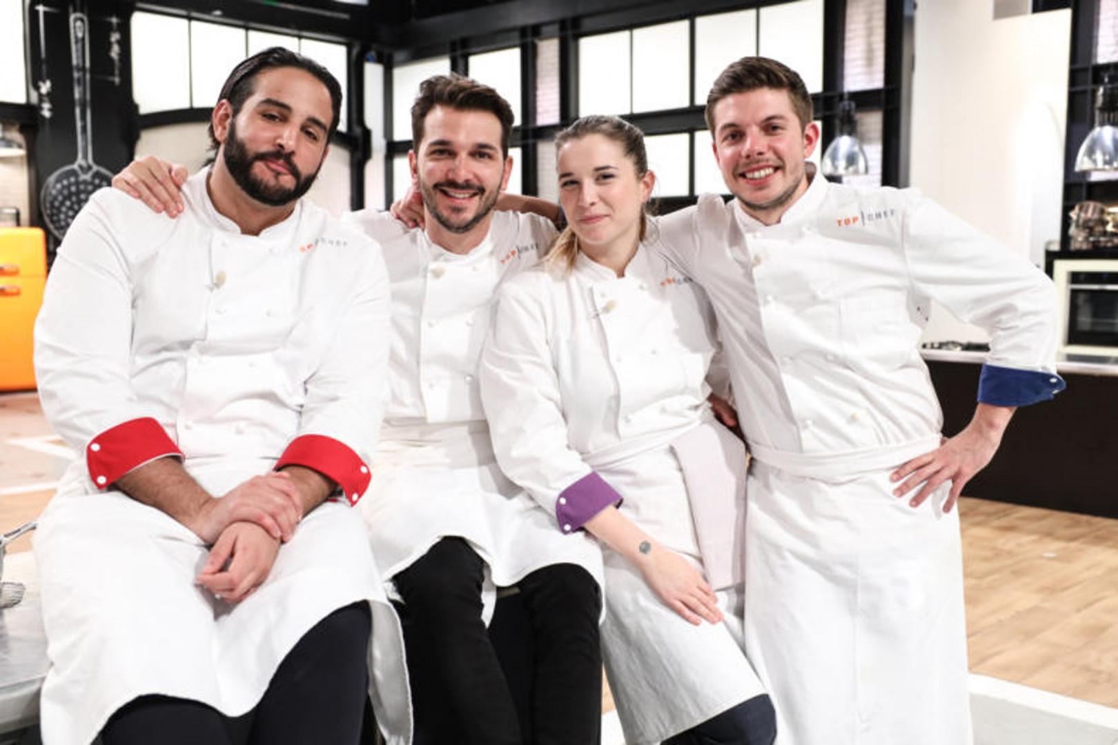 """Mohamed, Pierre, Sarah et Matthias dans la saison 12 de """"Top Chef"""""""