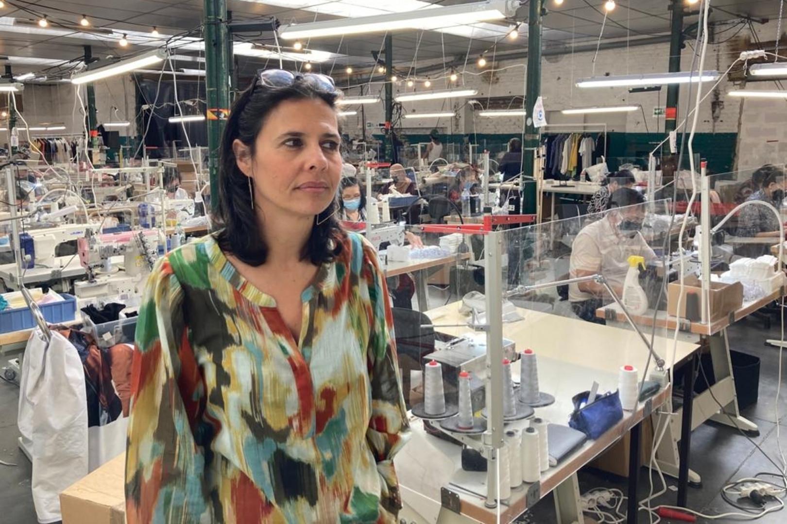 Stéphanie Calvino est à la tête de l'atelier Résilience (Roubaix).