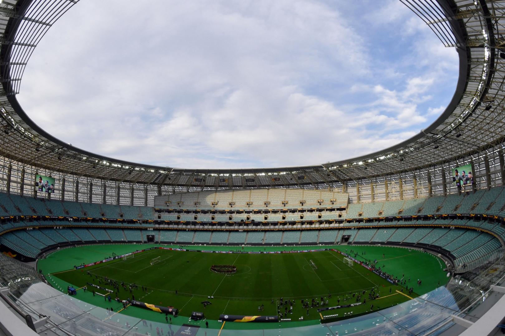 Le stade olympique de Bakou vu de l'intérieur en mai 2019