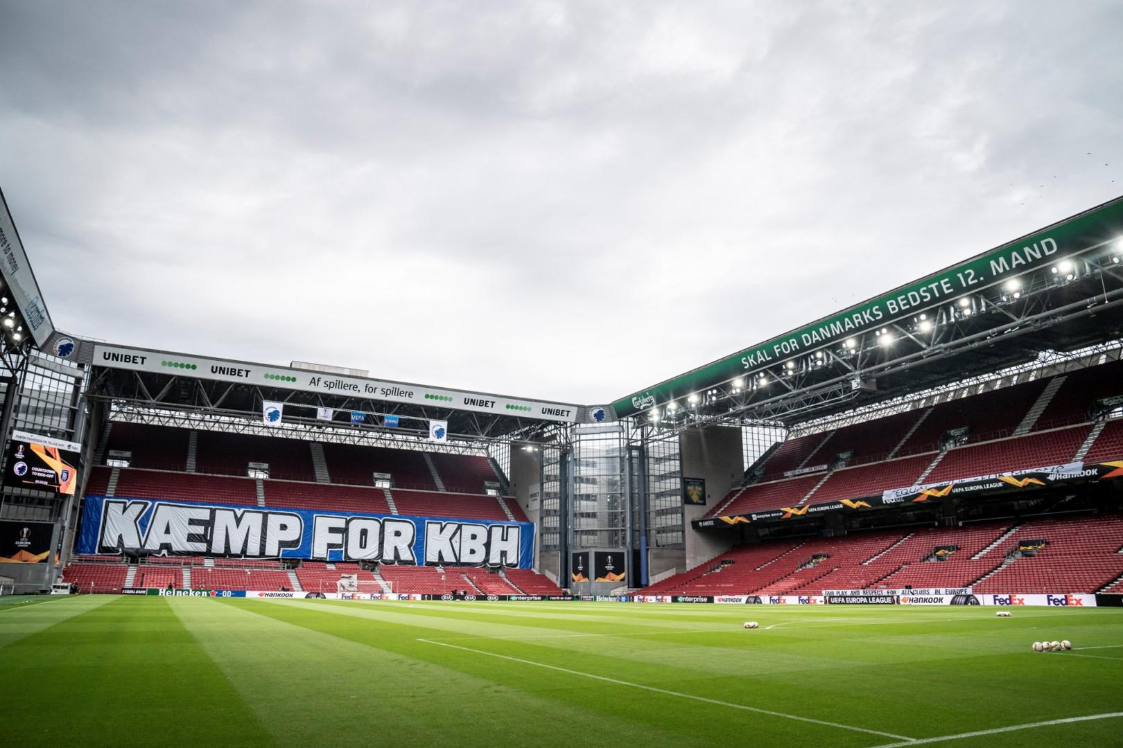 Vue intérieure du Parken de Copenhague en août 2020