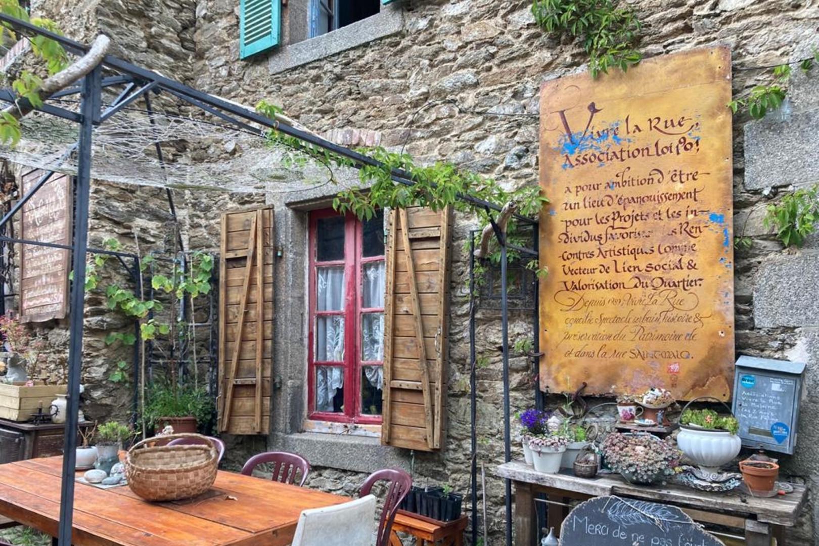 La maison de Mireille Cann rue Saint-Malo