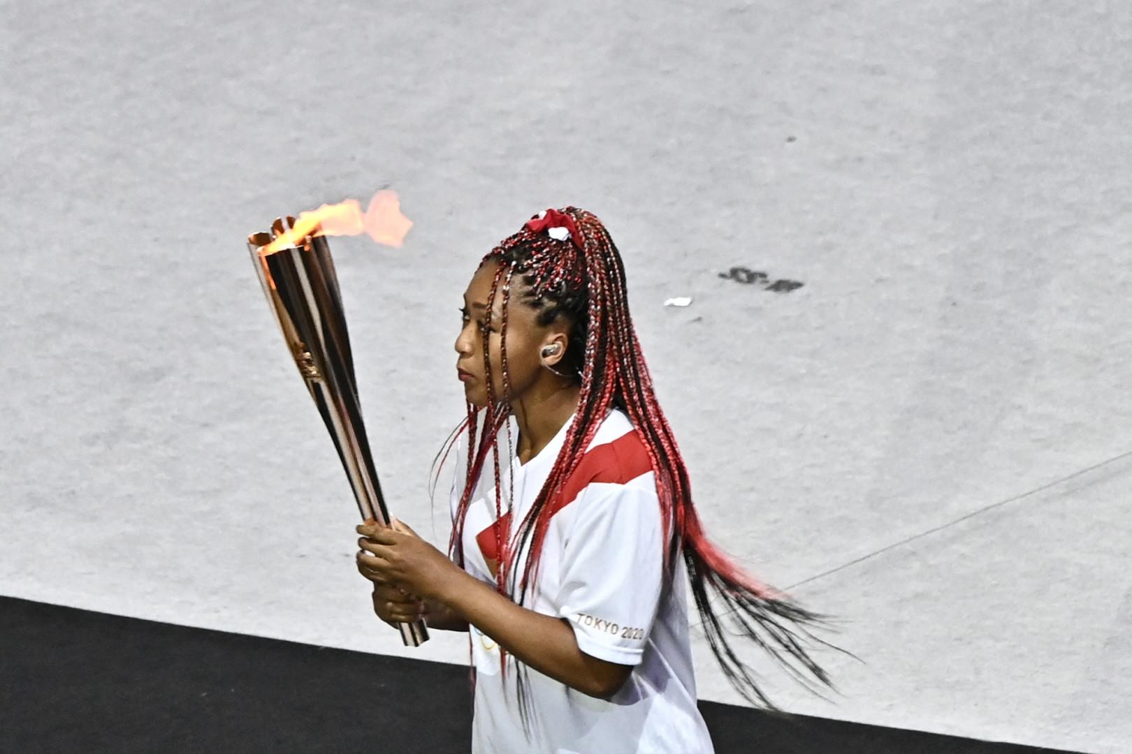 Naomi Osaka, dernière porteuse de la flamme