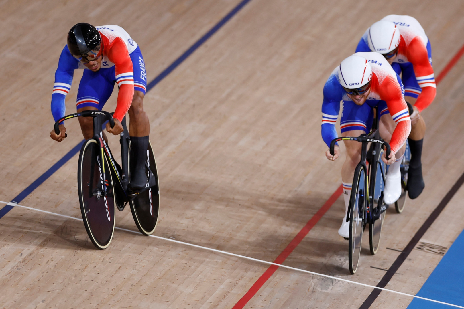 L'équipe de France masculine de vitesse à Tokyo le 3 août 2021