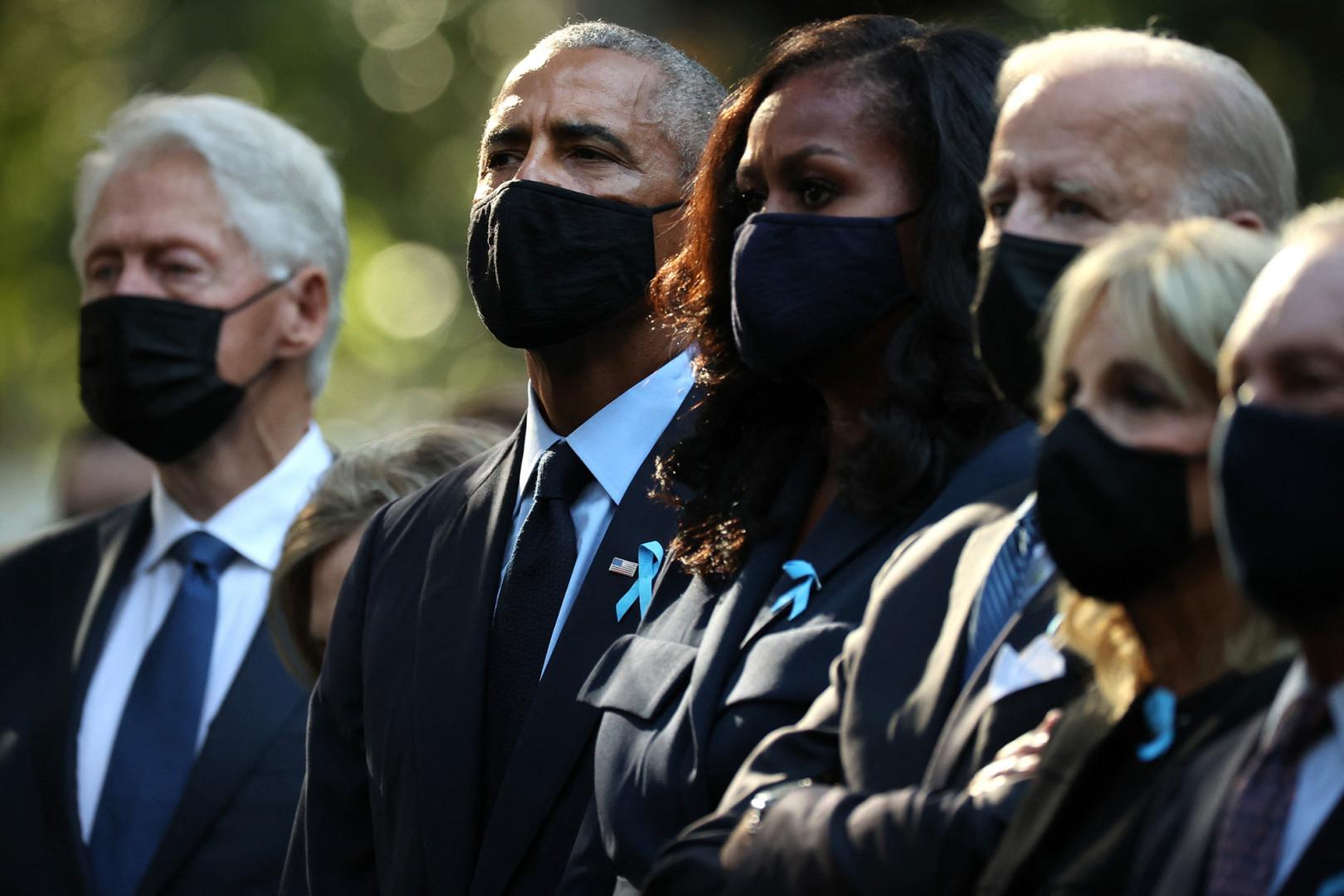 Joe Biden s'est rendu sur place en compagnie de Barack Obama et Bill Clinton