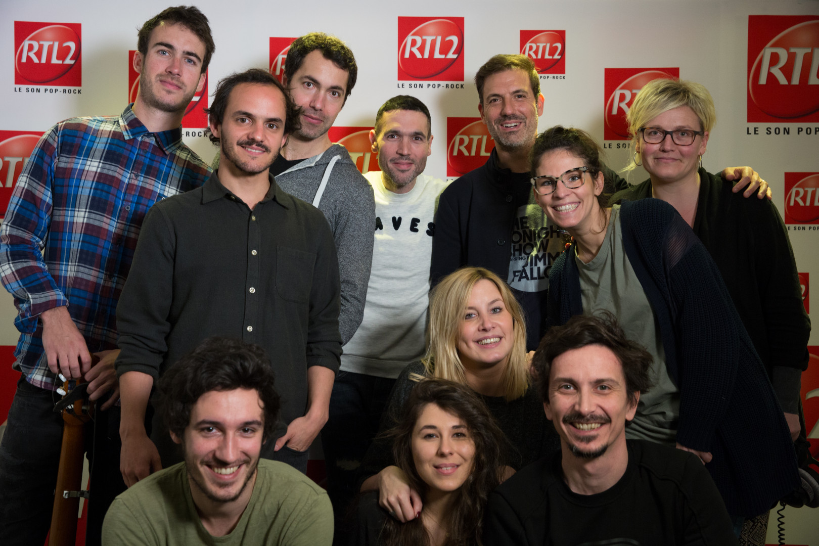L'équipe du double Expresso en compagne de Ben et de Sylvain Duthu et Florent Dasque de Boulevard des Airs