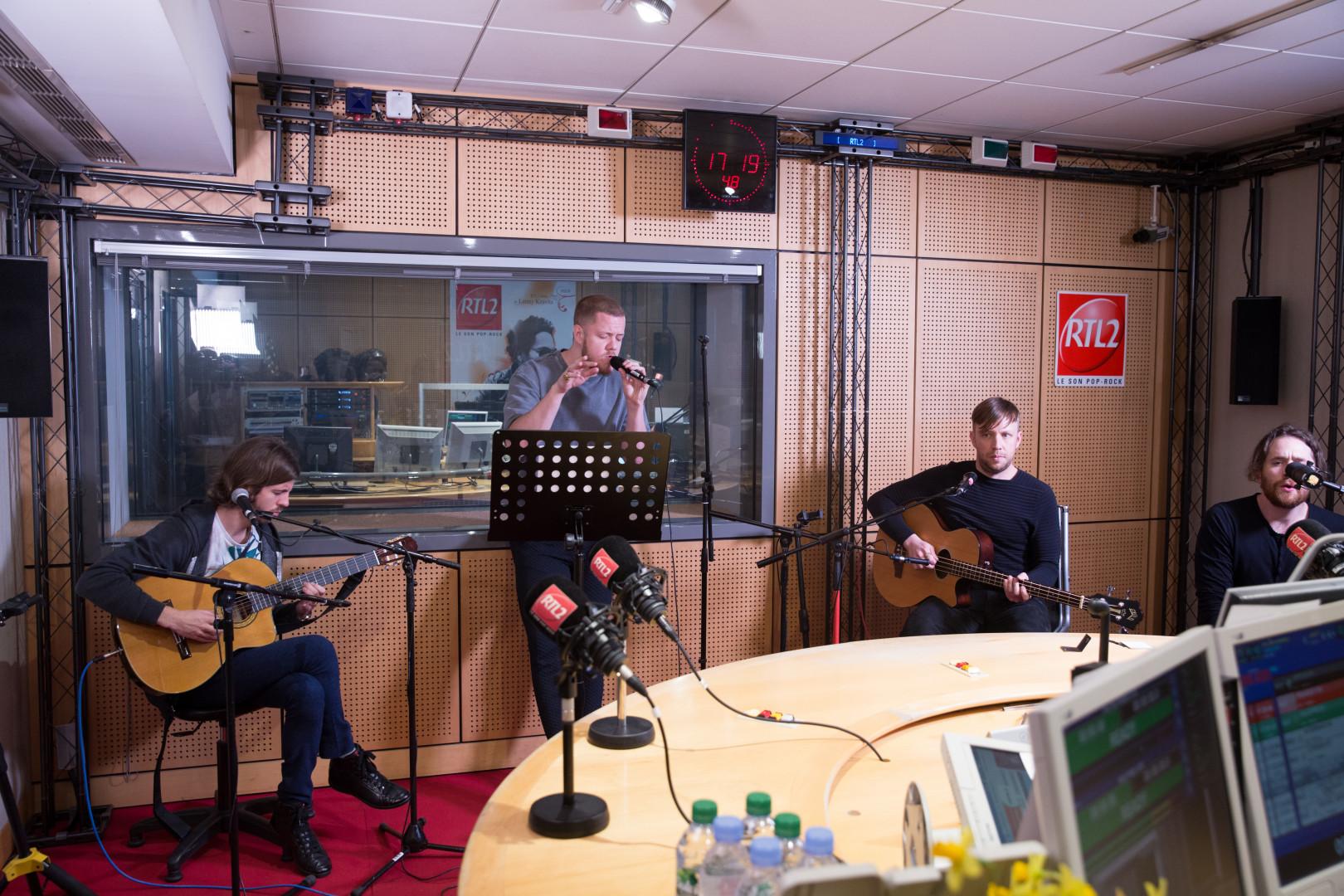 Imagine Dragons en session acoustique dans les studios de RTL2