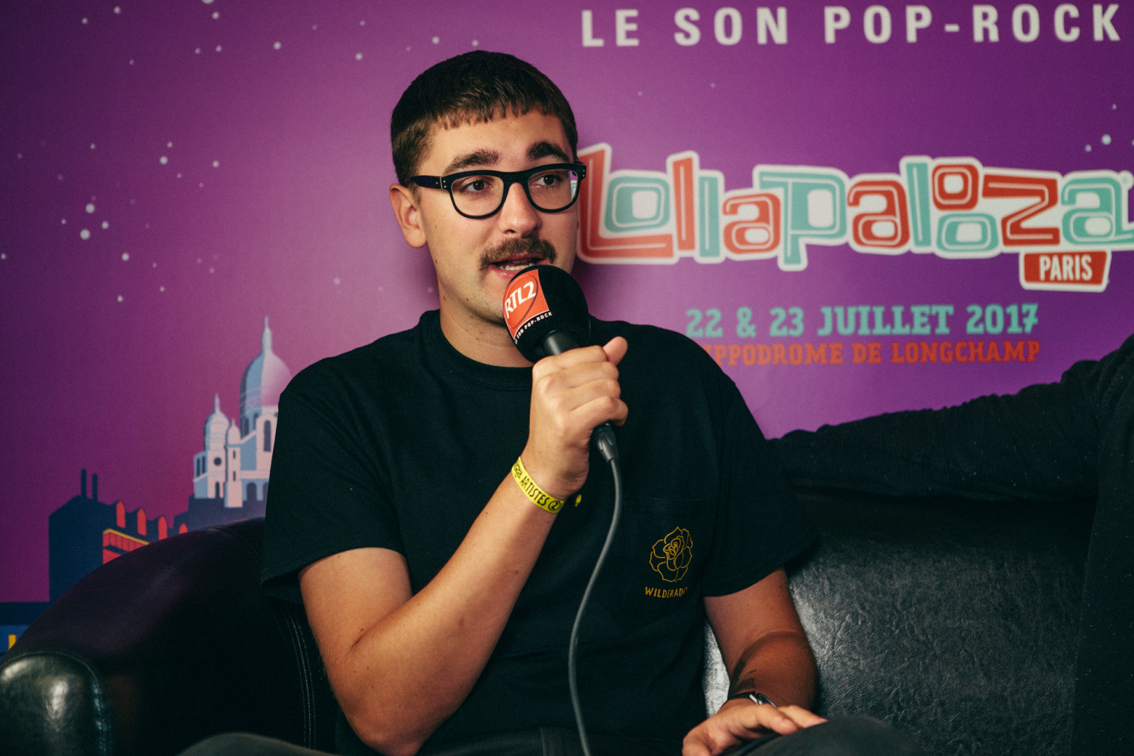 alt-J en interview dans le studio RTL2 lors de Lollapalooza Paris