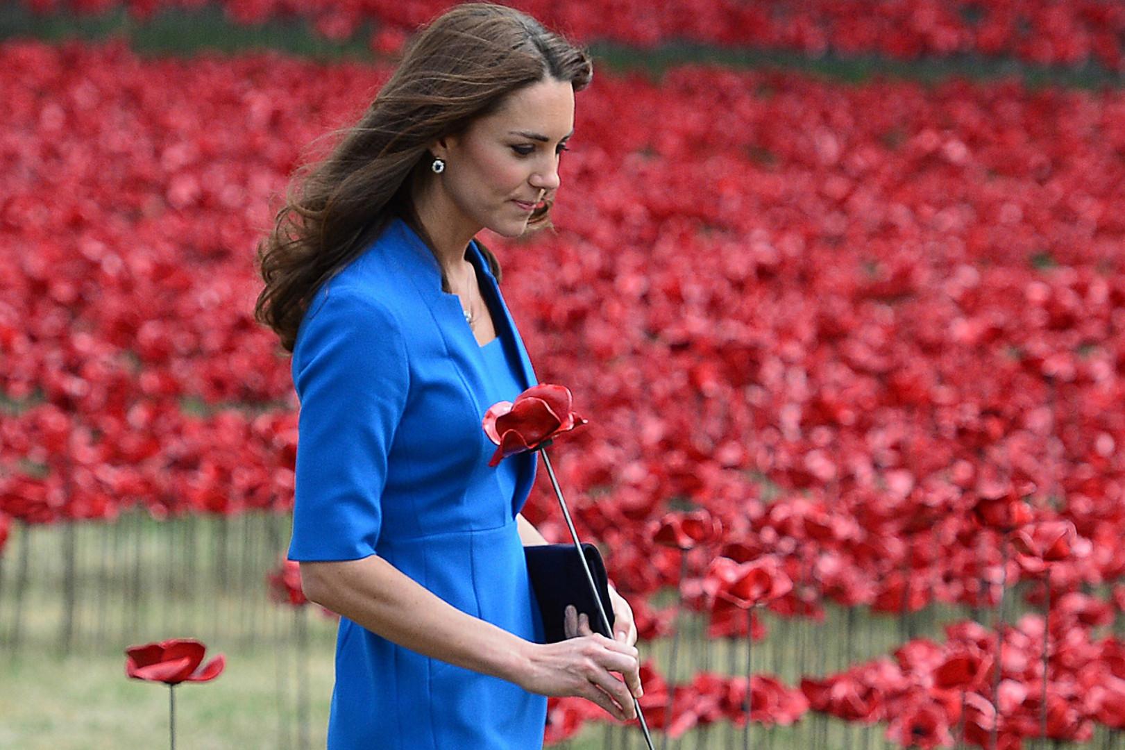 Kate Middleton lors de sa visite à la Tour de Londres an août 2014