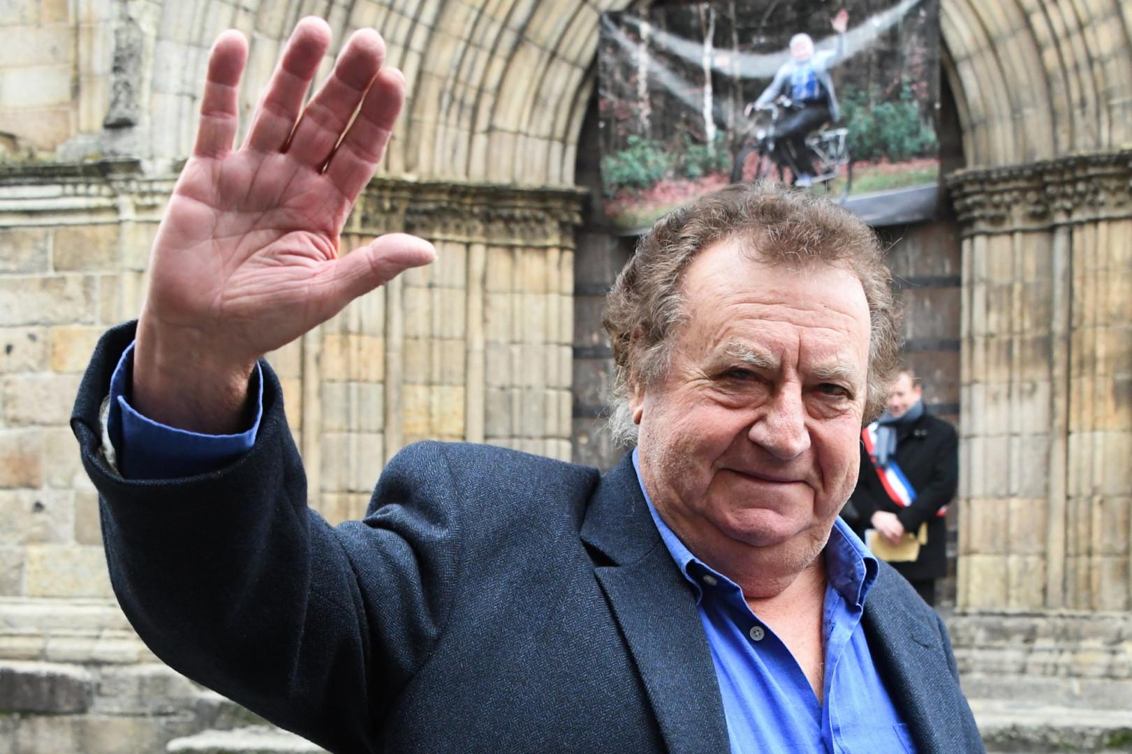 L'ancien cycliste Lucien Aimar aux obsèques de Raymond Poulidor, le 19 novembre