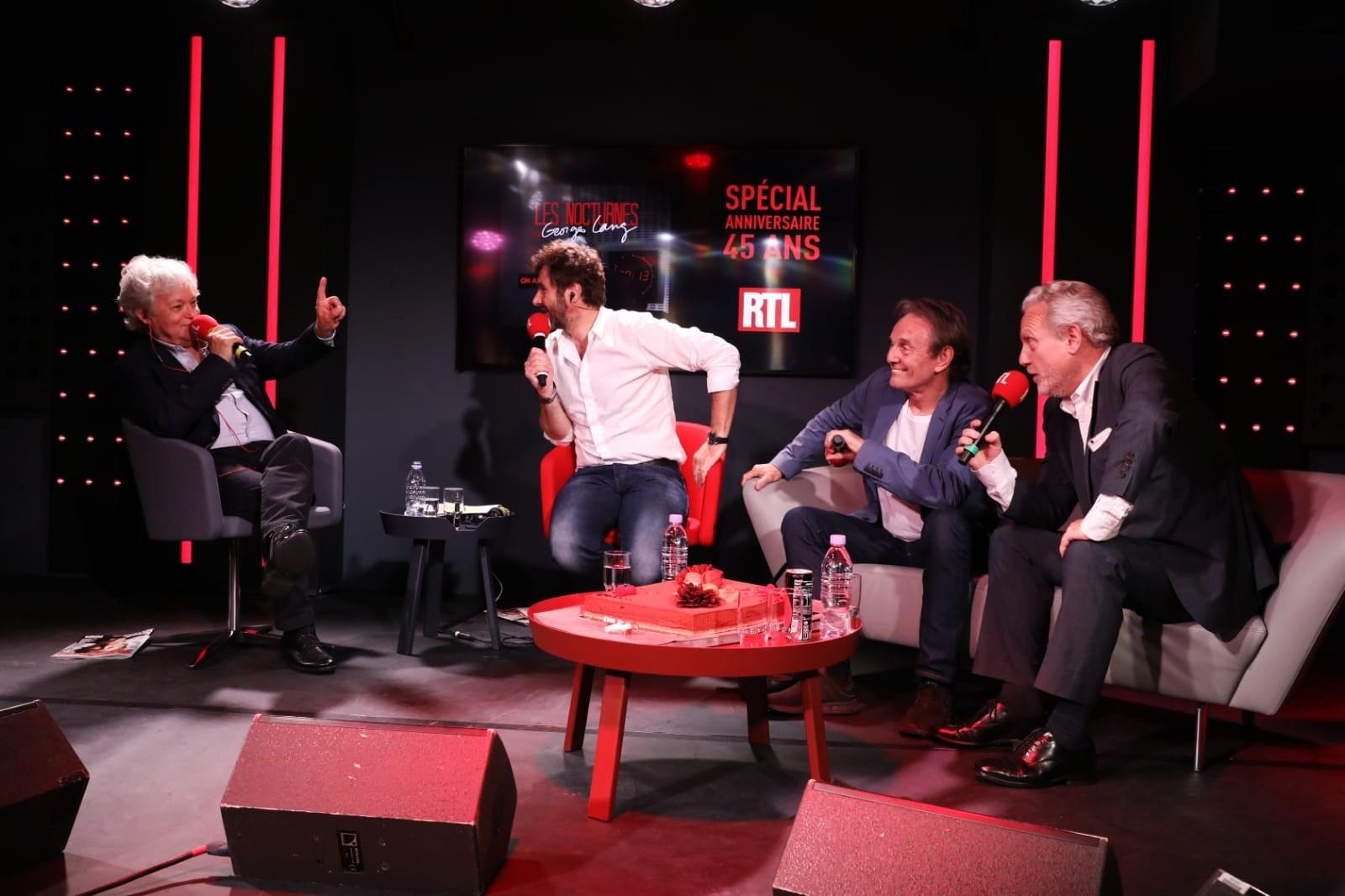 Georges Lang, Eric Jean Jean, Murray Head et Yves Bigot lors des 45 ans des Nocturnes