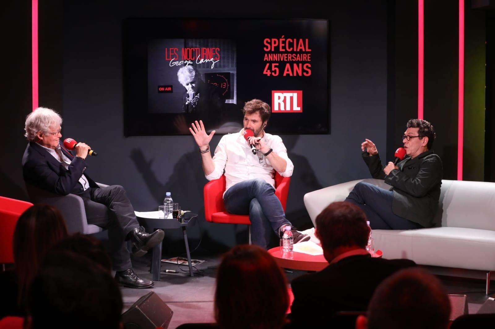 Georges Lang, Eric Jean Jean et Marc Lavoine lors des 45 ans des Nocturnes