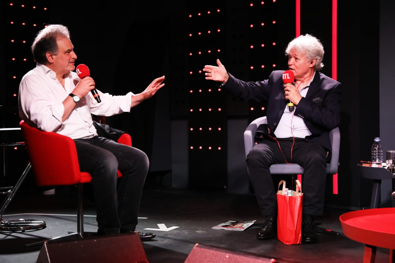 Raphaël Mezrahi et Georges Lang lors des 45 ans des Nocturnes