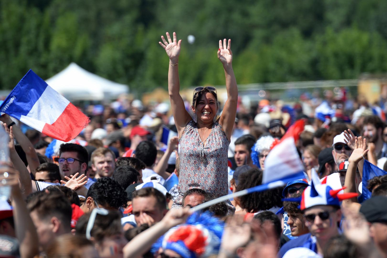 À Tours pour le match France-Croatie le 15 juillet 2018