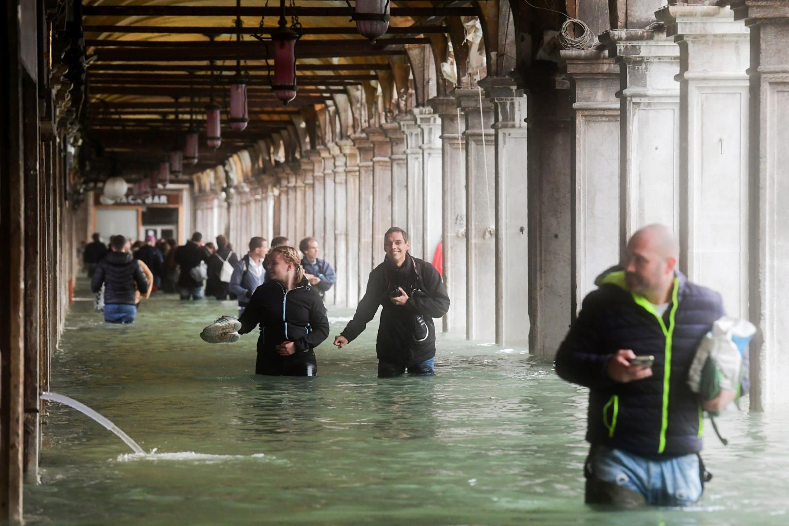 Les rues de Venise sous l'eau lundi 29 octobre 2018