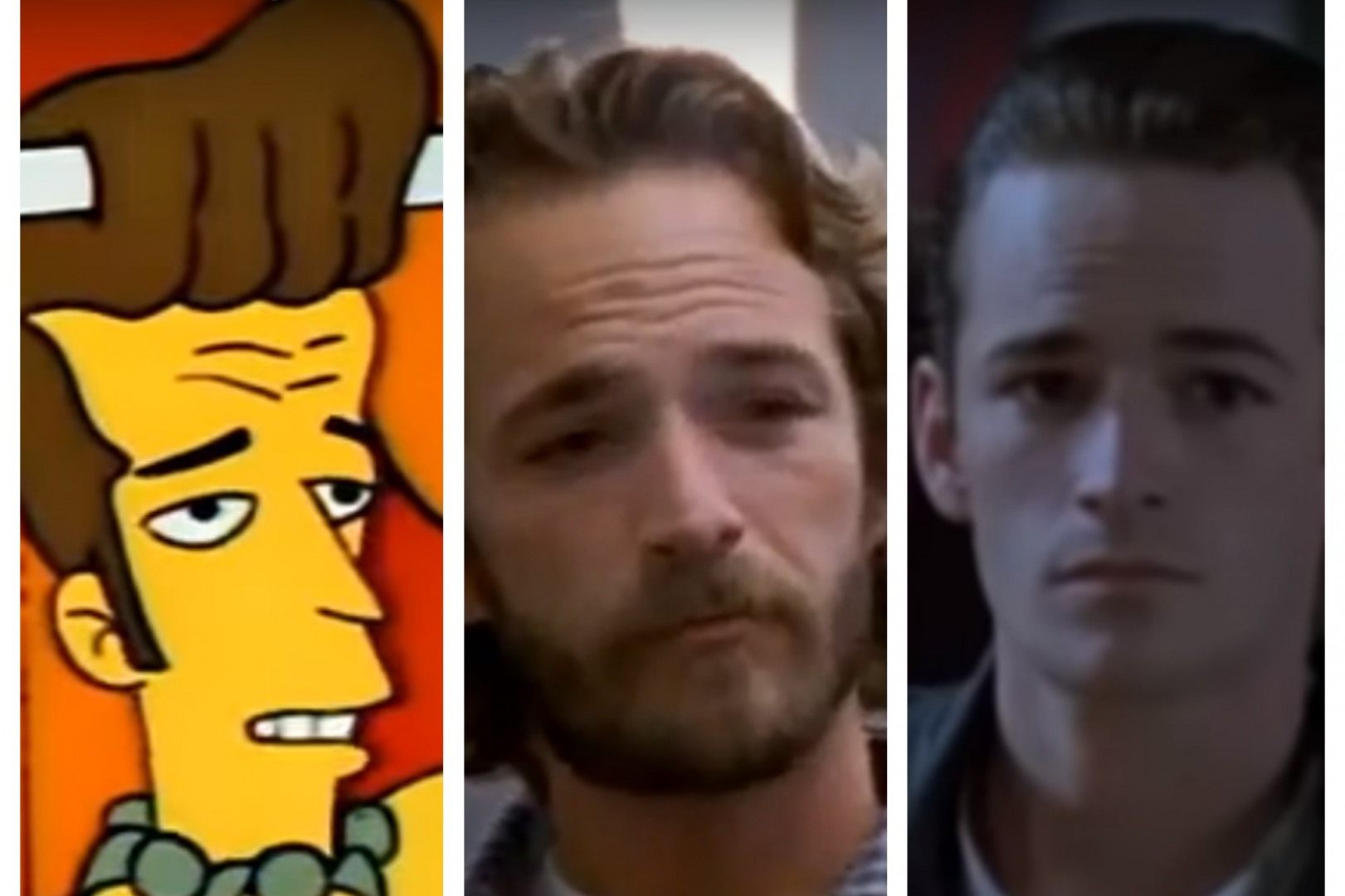 """Luke Perry représenté dans """"Les Simpson"""" et dans """"Oz"""" et """"Buffy, tueuse de vampires"""""""
