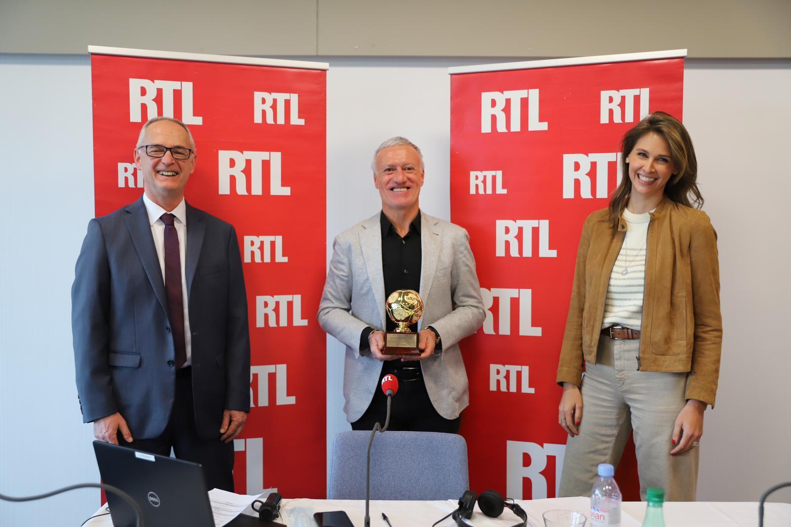 Robert Ley, Didier Deschamps et Ophélie Meunier le 16 janvier 2021.