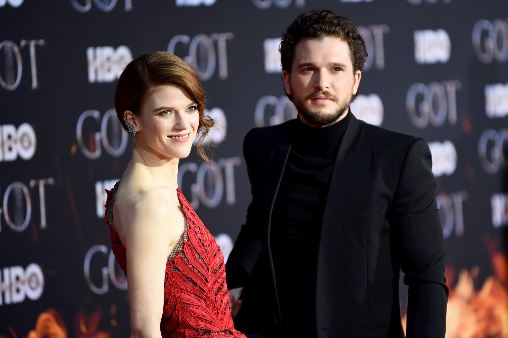 Rose Leslie (Ygritte) et son mari Kit Harington (Jon Snow)