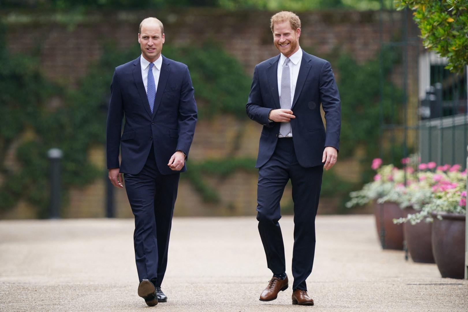 William et Harry à l'inauguration de la statue à l'effigie de Lady Diana, le 1er juillet 2021