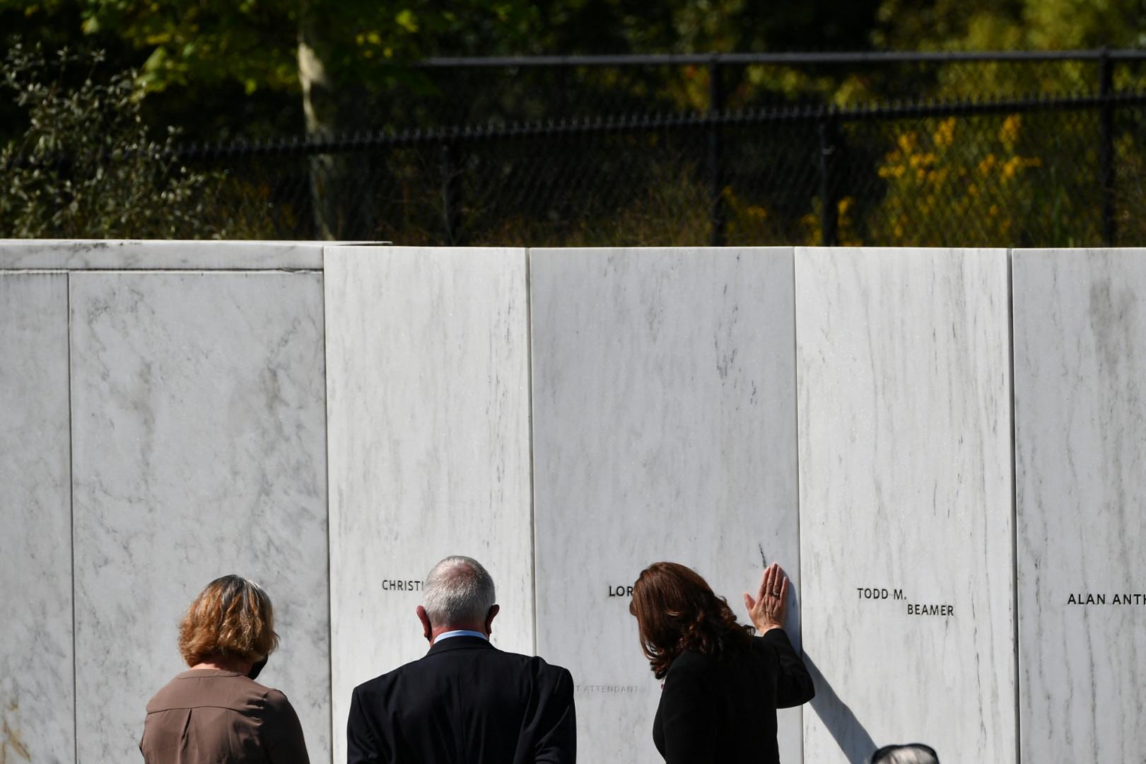 La vice-présidente Kamala Harris s'est rendue en Pennsylvanie, où le vol 93 avait fait 37 morts