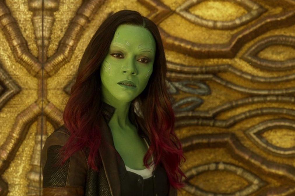 """Vous connaissez certainement son visage sous différentes couleurs, ici dans le rôle de Gamora pour """"Les Gardiens de la Galaxie"""""""