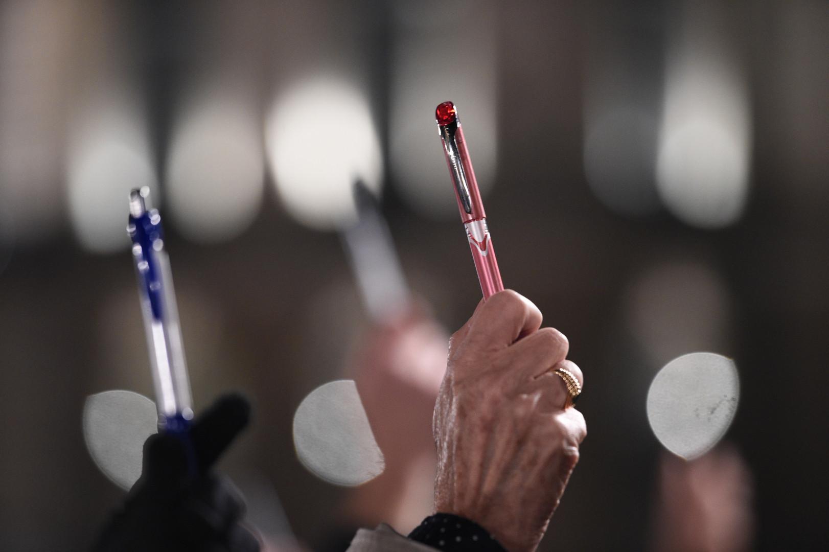 Des crayons en symbole de la liberté d'expression