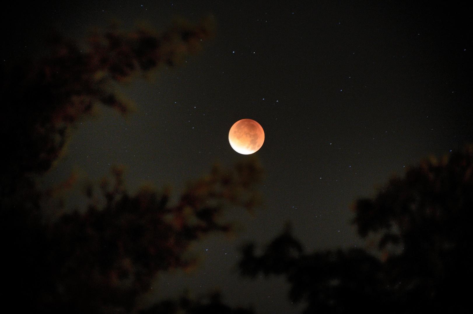 La lune de sang était visible à l'œil nu en France lundi 28 septembre