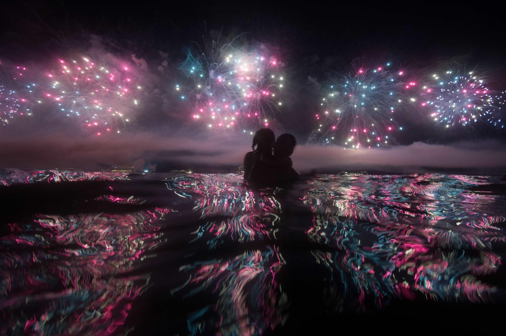 À Rio de Janeiro, les célébrations pouvaient s'observer de la plage