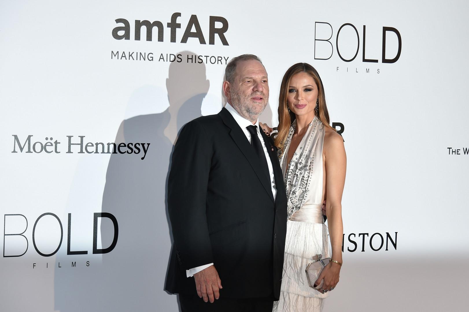 Le producteur Harvey Weinstein et sa femme Georgina Chapman  au 23e Gala de l'amfAR contre le sida