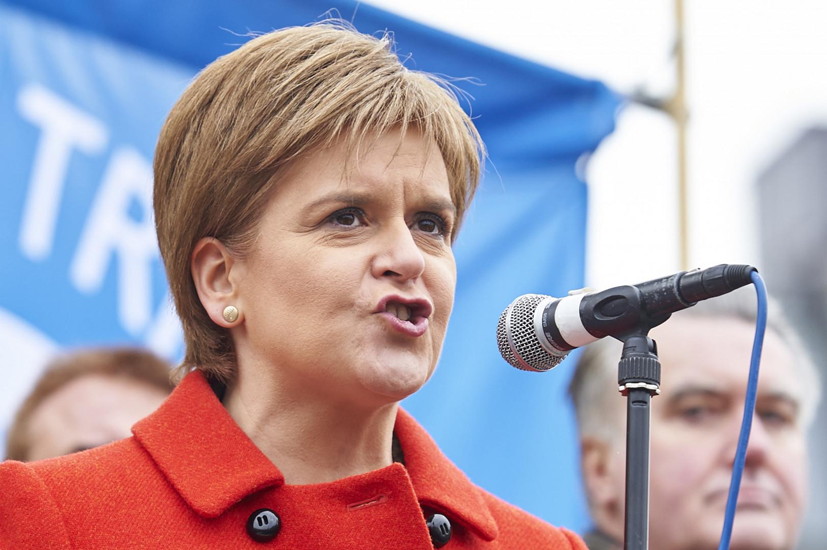 Nicola Sturgeon, la première ministre de l'Écosse et cheffe du Parti national écossais (SNP)