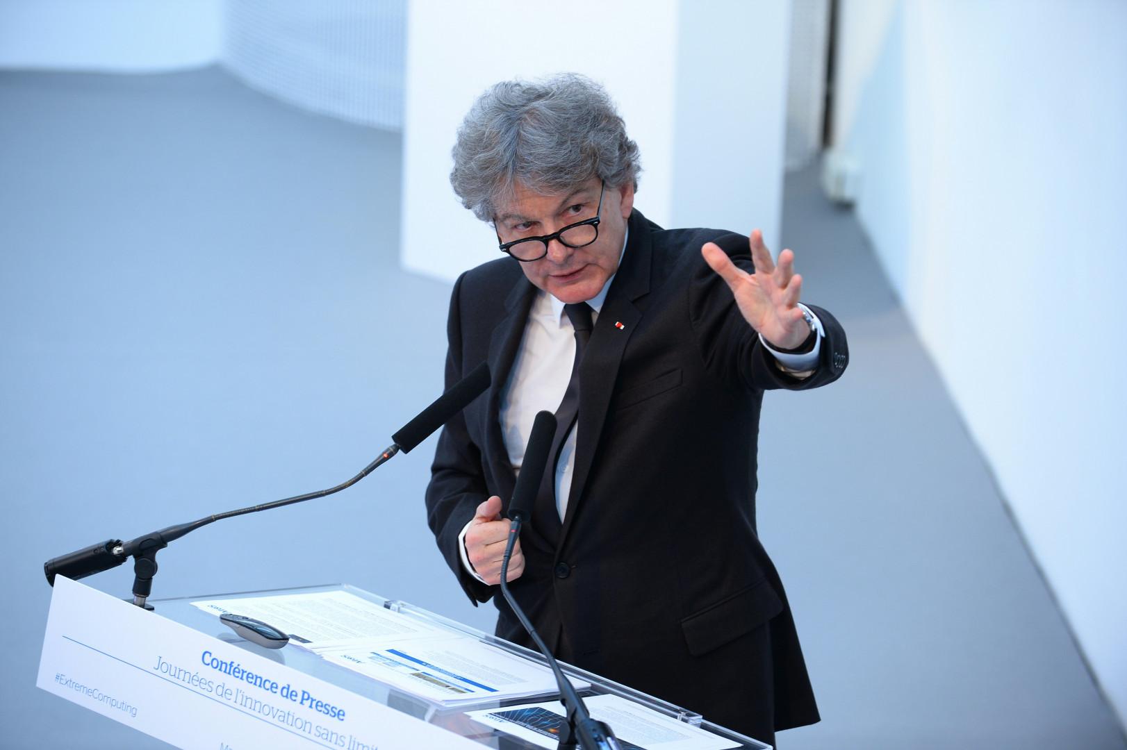 L'ancien ministre de l'Économie Thierry Breton en avril 2016