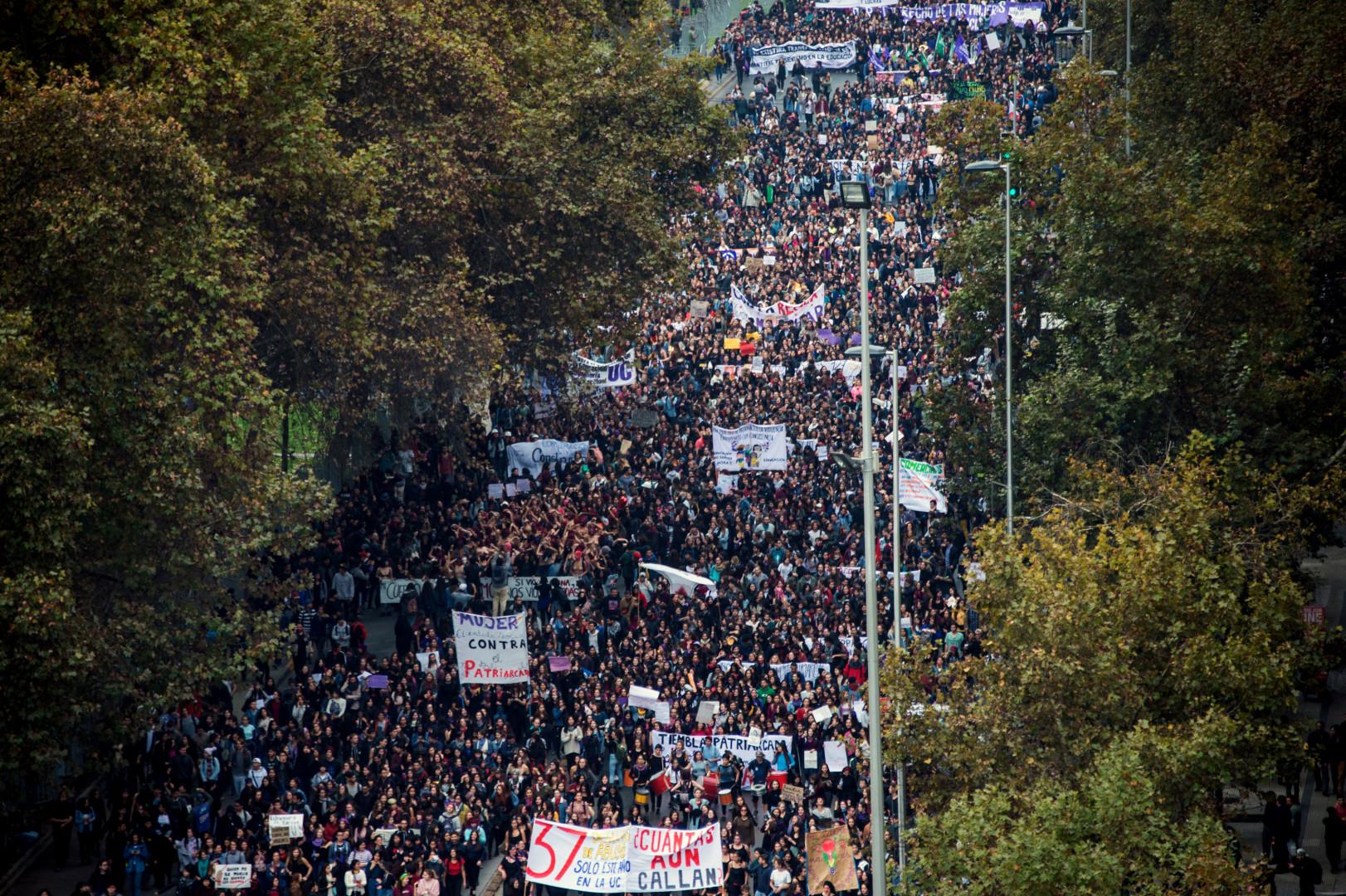 Depuis plusieurs semaines, des milliers de Chiliennes sont mobilisées.