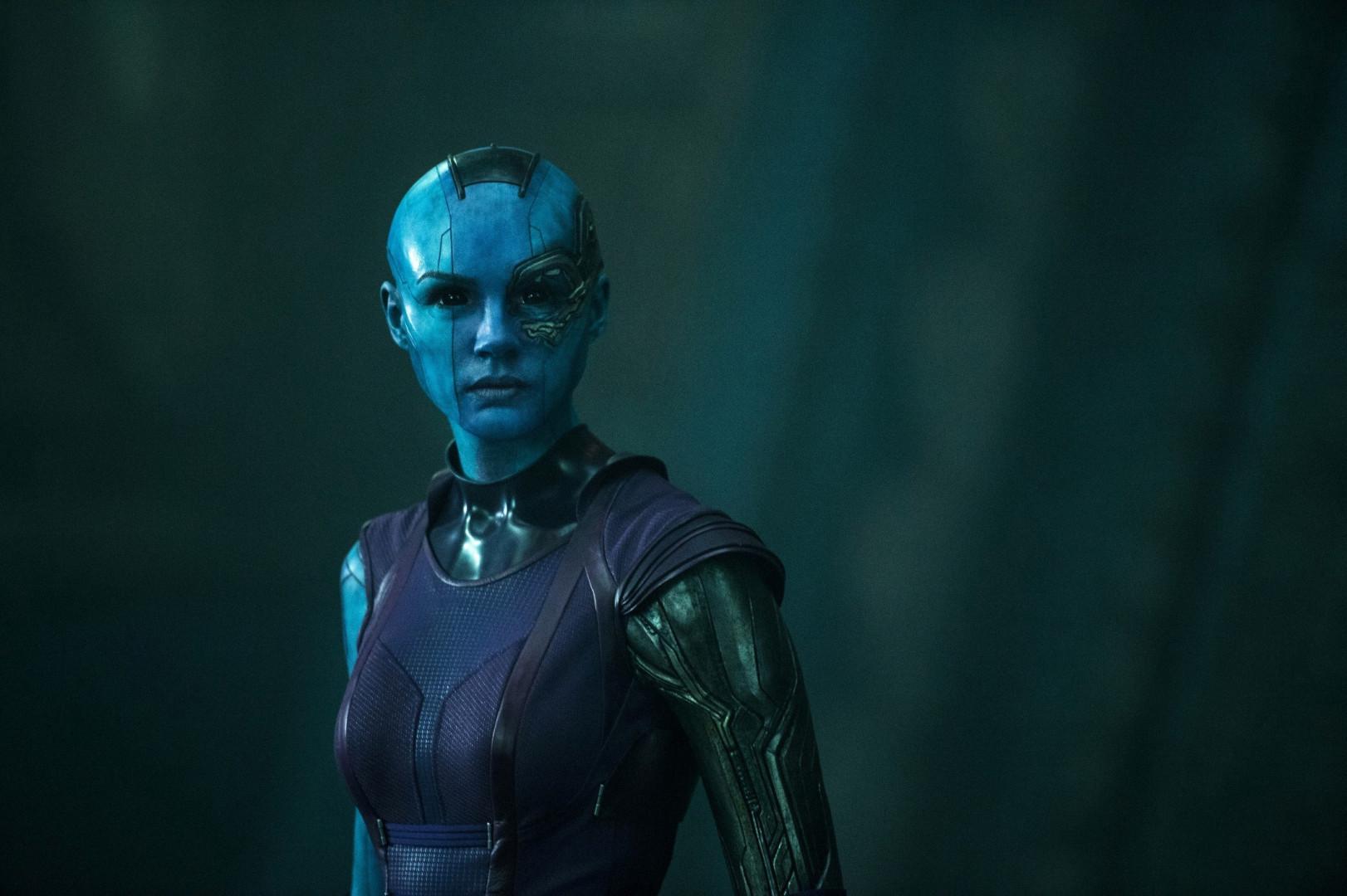 La méchante Nébula est une pirate de l'espace de la race des Luphomoïdes. C'est l'Écossaise Karen Gillan qui incarne son rôle.
