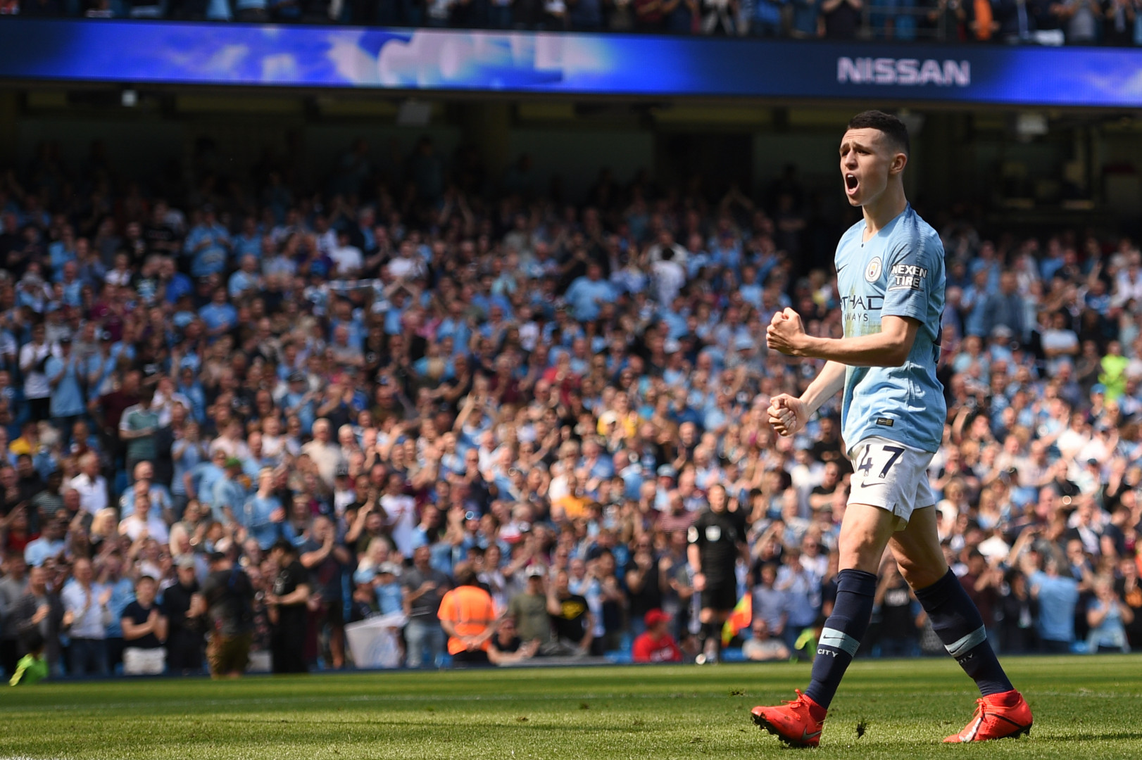 Phil Foden (19 ans, Angleterre) avec Manchester City le 20 avril 2019