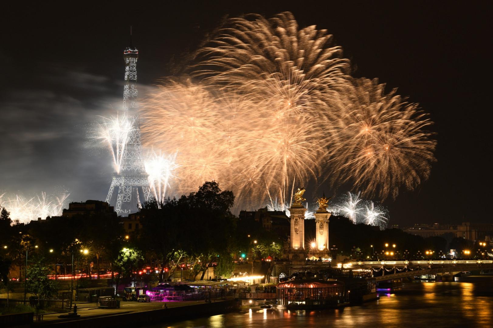 Le feu d'artifice de Paris, le 14 juillet 2021.